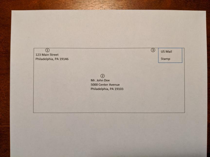 Letter demo